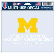 WinCraft University of Michigan School of Natural Resources & Enviro. Decal