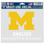 WinCraft University of Michigan English Decal