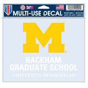 WinCraft University of Michigan Rackham Graduate School Decal