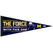 WinCraft University of Michigan Star Wars The Force Is Strong Pennant