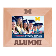 WinCraft University of Michigan Alumni Laser Engraved 5x7 Wood Frame [Horizontal]
