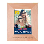 WinCraft University of Michigan Alumni Laser Engraved 5x7 Wood Frame [Vertical]