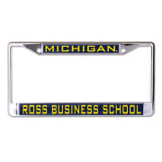 WinCraft University of Michigan Ross School of Business Inlaid Laser Magic License Plate Frame