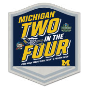 WinCraft University of Michigan Basketball and Hockey Final Four/ Frozen Four Collectible Lapel Pin