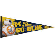 WinCraft University of Michigan Football Star Wars BB-8 Premium Pennant