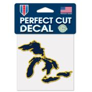 WinCraft University of Michigan Navy State of Michigan Great Lakes Outline Decal