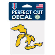 WinCraft University of Michigan Yellow State of Michigan Great Lakes Outline Decal