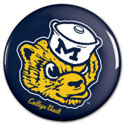 WinCraft University of Michigan College Vault Wolverine Button