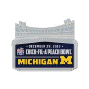 WinCraft University of Michigan Football Peach Bowl Lapel Pin