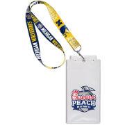 WinCraft University of Michigan Football Peach Bowl Lanyard Ticket Holder