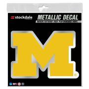 WinCraft University of Michigan Yellow Metallic Block ''M'' Logo Decal