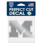 WinCraft University of Michigan Silver Metallic Block ''M'' Decal