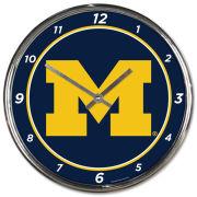 WinCraft University of Michigan Chrome Wall Clock