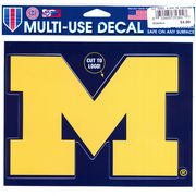 WinCraft University of Michigan Yellow Block M Decal