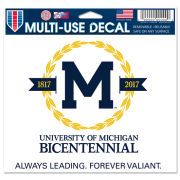 WinCraft University of Michigan Bicentennial Logo Window Cling Decal