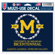 WinCraft University of Michigan Bicentennial Logo Decal