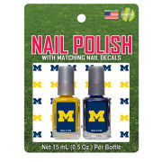 Worthy University of Michigan Maize and Blue Nail Polish Kit with Matching Decals