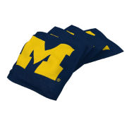 Wild Sports University of Michigan Navy 4-Pack Bean Bag Set for Tailgate Toss Game