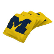 Wild Sports University of Michigan Yellow 4-Pack Bean Bag Set for Tailgate Toss Game