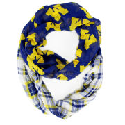 ZooZatz University of Michigan Tartan Logo Infinity Scarf