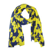 ZooZatz University of Michigan Navy/Yellow Split Block ''M'' Logo Oblong Scarf
