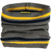 ZooZatz University of Michigan Gray Striped Tube Scarf