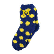 ZooZatz University of Michigan Polka Dot Fuzzy Cozy Socks