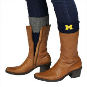 ZooZatz University of Michigan Navy/Gray Knit Boot Cuffs