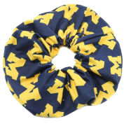 ZooZatz University of Michigan All-Over Block ''M'' Logo Scrunchie