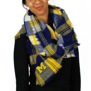 ZooZatz University of Michigan Women's Tartan Blanket Scarf