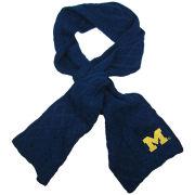 ZooZatz University of Michigan Navy Cable Knit Scarf