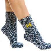 ZooZatz University of Michigan Marled Fuzzy Cozy Socks