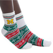 ZooZatz University of Michigan Chenile Lined Holiday Socks