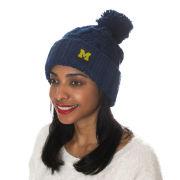 ZooZatz University of Michigan Women's Navy Chunky Cuffed Pom Knit Hat