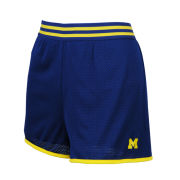 ZooZatz University of Michigan Women's Navy ''Blitz'' Mesh Shorts
