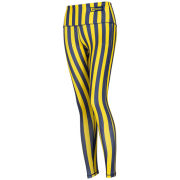 ZooZatz University of Michigan Women's Navy/Yellow Striped Leggings