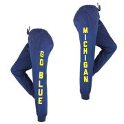 ZooZatz University of Michigan Women's Navy Score Jogger Pant
