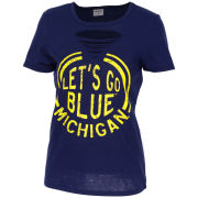 ZooZatz University of Michigan Women's Navy Revival Ripped Tee