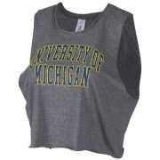 ZooZatz University of Michigan Women's Gray Cropped Old School Tank Top