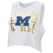 ZooZatz University of Michigan Women's White ''Win Win'' Cropped Tank Top