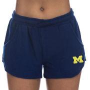 ZooZatz University of Michigan Women's Navy Sweater Short