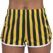 ZooZatz University of Michigan Women's Navy/Yellow Striped Shorts