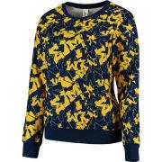 ZooZatz University of Michigan Women's Stacked Logo Crewneck Sweatshirt