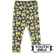 ZooZatz University of Michigan Youth Girls Block ''M'' Logo Leggings