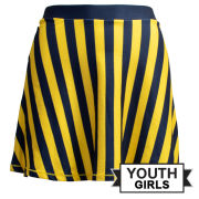 ZooZatz University of Michigan Youth Girls Striped Spirit Skirt