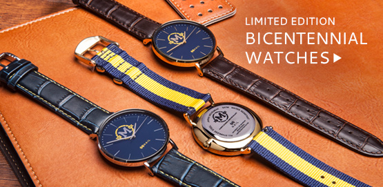 Celebrate 200 years of excellence with these beautiful U-M Bicentennial Watches from HAIL Brand