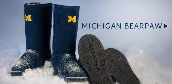 Get winter ready while showing off your maize and blue spirit with our BearPaw Boots!